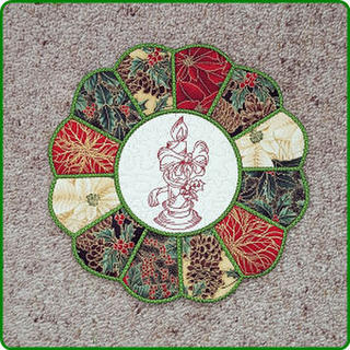 Christmas Placemat 2 - In-the-hoop