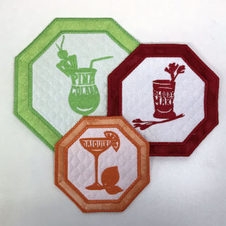 In the hoop Cocktail Coasters