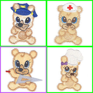 Free Wannabe Bears Applique