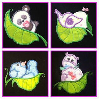 Free Pea Pods 2 Applique Set