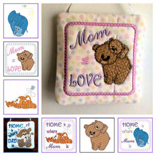 Free Mum and Me Embroidery Designs