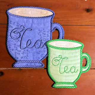 Free In the hoop Tea Cup Coaster