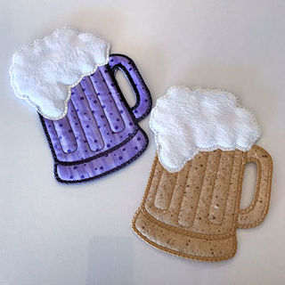 Free In the hoop Beer Mug Coaster