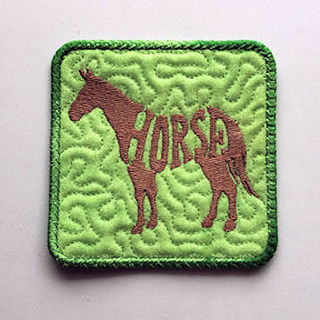 Free In the hoop Farm Animal Coasters