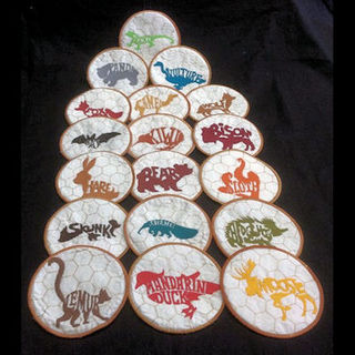 Free In the hoop Animal Coasters