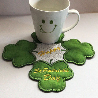 Free St Patricks Day Shamrock Coaster