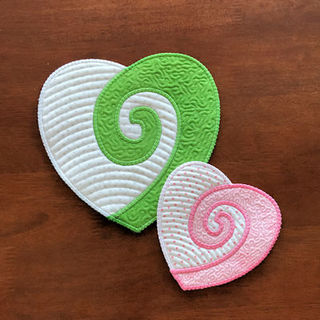 Free In the hoop Koru Heart Coaster
