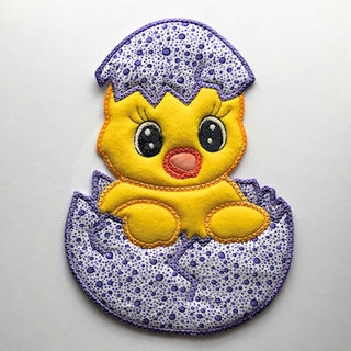Large Chicken Applique