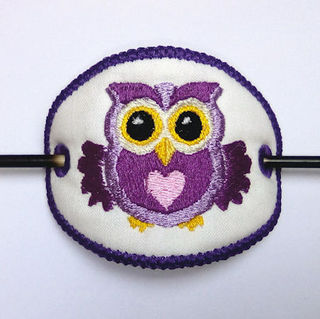 In the hoop Owl Barette