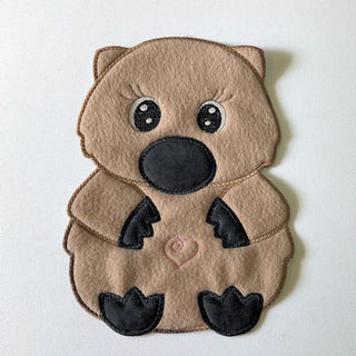 Large Wombat Applique