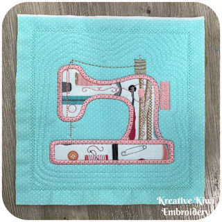 Free Applique Sewing Machine Block