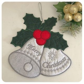 Large Christmas Bell Applique
