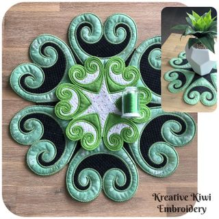 Koru Placemat In the hoop