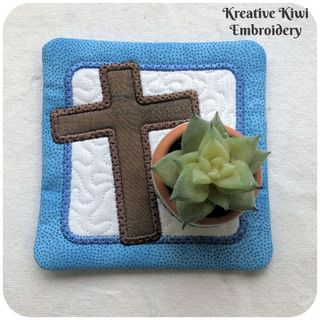 Free Easter Cross Coaster