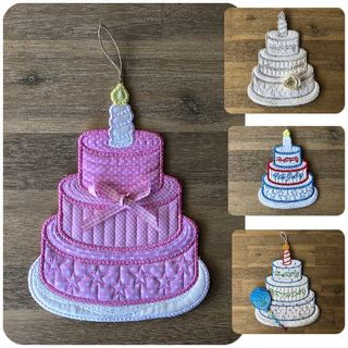 In the hoop Stacked Cake
