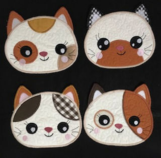In the hoop Kitten Coasters