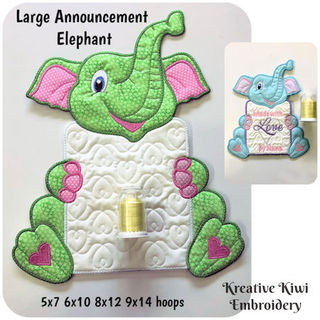 Large Announcement Elephant