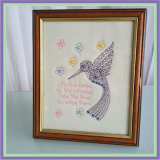 Free Hummingbird Embroidery Design