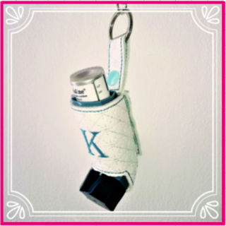 In the hoop Inhaler Keyring
