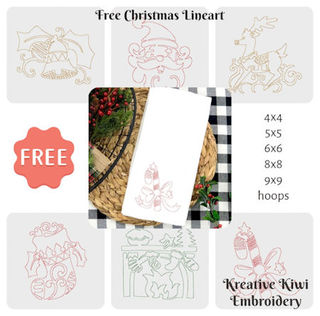 Free Christmas Lineart Designs