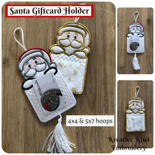 In the hoop Santa Giftcard Holder