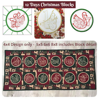 12 Days of Christmas Blocks