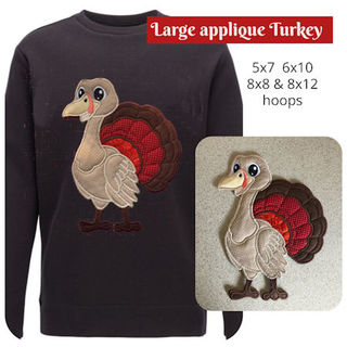 Large Turkey Applique