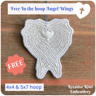 Free In the hoop Angel Wings