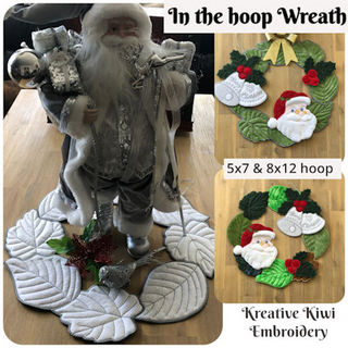 Large In the hoop Wreath