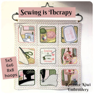 Sewing is Therapy Wall Hanging
