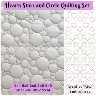 Hearts Stars and Circles Quilting Set