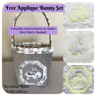 Free Applique Bunny Set