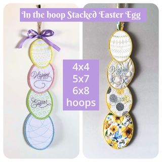 In the hoop Stacked Easter Egg