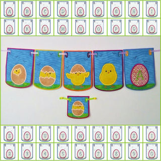 Easter Chick In the hoop Bunting