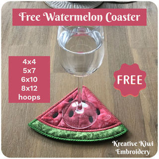 Free Watermelon Coaster