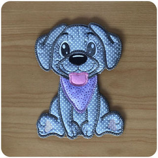 Large Applique Dog 2