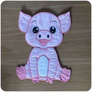 Large Applique Pig 2