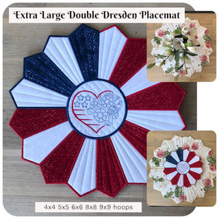 Extra Large Double Dresden Placemat