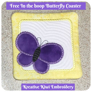 Free In the hoop Butterfly Coaster
