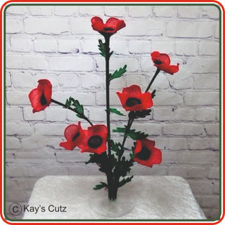 3D Free Standing Lace Poppy Centre piece