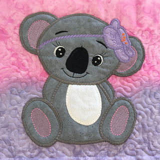 How to stitch a completed Large Applique to an item