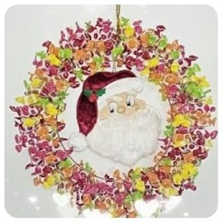 How to make a Santa Sweetie Wreath