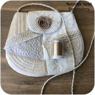 How to make Crazy Patch Evening Bag