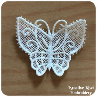 How to make Free Lace Butterfly