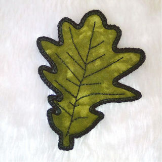 How to make Free In the hoop Oak Leaf Coaster
