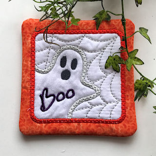 How to stitch our In the hoop Halloween Ghost Coaster