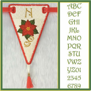 How to make In the hoop Poinsettia Bunting