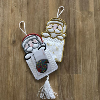 How to make In the hoop Santa Giftcard