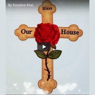 How to make Large Applique Cross