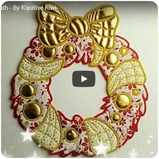 How to make In the hoop Christmas Wreath